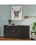 Florence 3+3 Drawer Chest In Black