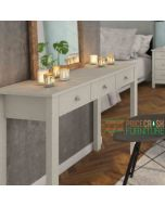 Florence 3 Drawer Hallway Console Table In Soft Grey