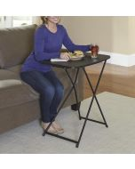2-Pack 18 x 26 inch Adjustable Height Activity Folding Table, Black
