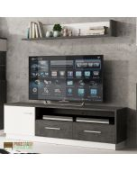 Zingaro TV Stand (wide version) - 2 Drawer & 1 Door