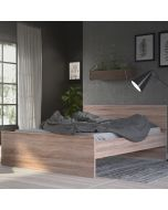 Naia Double Bed 4ft6 (140 x 190) in Truffle Oak