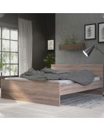 Naia Euro King Bed (160 x 200) In Truffle Oak