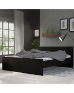 Naia Euro King Bed (160 x 200) In Black Matt