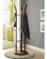 JF314 Melbourne Umbrella Coat Hat Stand in Walnut by Jual at Price Crash Furniture. Matching items available