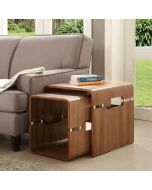 Jual Furnishings JF706 Nest of Tables in Walnut at Price Crash Furniture. Matching items available