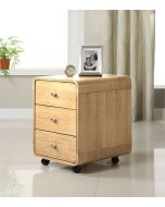 3 Drawer Oak Desk Pedestal by Jual Furnishings