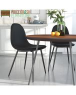 Pair of Calvin Upholstered Dining Chairs in Black by Dorel