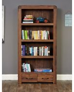 Baumhaus Shiro Walnut Large 2 Drawer Bookcase - CDR01A
