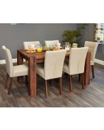 Baumhaus Shiro Walnut 150cm Dining Table (4/6 Seater) - CDR04B