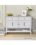 Baumhaus Signature Grey Small Sideboard / Hall Console Shoe Storage Table