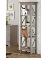 Core Products Corona Vintage Grey Wax Pine Narrow 5 Tier Shelf Unit