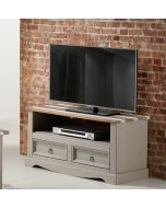 Core Products Corona Vintage Grey Wax Pine 2 Drawer TV Unit
