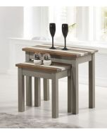 Core Products Corona Vintage Grey Wax Pine Nest of Tables