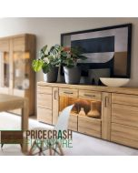 Cortina 4 Door Wide Sideboard In Grandson Oak at Price Crash Furniture
