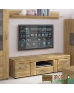 Cortina 2 Door 1 Drawer Wide TV Cabinet In Grandson Oak