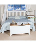 "Capri Corona 4'6"" Slatted Lowend Double Bed Frame in White at Price Crash Furniture. Matching items available"