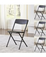 4-pack Indoor Outdoor Cosco Folding Chair Moulded Seat Black