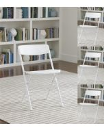 4-pack Indoor Outdoor Cosco Folding Chair White with White Legs