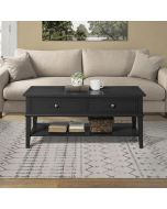 Franklin Wooden Coffee Table in Black by Dorel