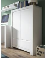 Novi 2 Door 1 Drawer Cabinet In Alpine White