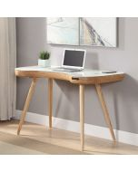 Jual PC711 Light oak/ash smart desk for home office work with built-in USB, Bluetooth and speakers at Price Crash Furniture
