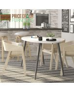 Oslo Dining Table - Large (160 cm) in White and Black Matt at Price Crash Furniture. Matching items also available.