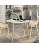 Oslo Dining Table - Small (100 cm) in White and Oak at Price Crash Furniture. Matching items also available.