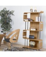 Designer Oak Bookcase by Jual Furnishings BS201WO at Price Crash Furniture. Matching items available