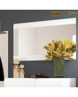 Chelsea Wall Mirror 109.5 cm Wide in White Gloss at Price Crash Furniture. Matching items available.