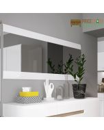 Chelsea Wall Mirror 164 cm Wide in White Gloss at Price Crash Furniture. Matching items available.