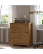 Heston 4 Drawer Chest of Drawers in Pine at Price Crash Furniture. Matching items available.