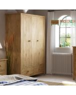 Heston 3 Door 2 Drawer Wardrobe in Pine from Price Crash Furniture. Matching furniture items available.