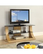 "JF201-1100 Florence TV stand in Oak for up to 50"" TVs by Jual at Price Crash Furniture. Matching items available"