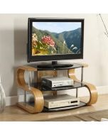 "Jual Furnishings JF203-850 Curved Oak TV Stand 37-42"" at Price Crash Furniture. Matching items available"