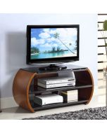 "JF208 Curved TV Stand in Walnut for up to 50"" TVs by Jual at Price Crash Furniture. Matching items available"