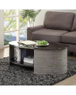 JF301 San Marino Oval Coffee Table in Grey by Jual at Price Crash Furniture. Matching items available. Also in Walnut or Oak