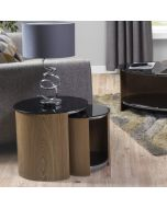 JF305 San Marino Nest of 2 Tables in Oak by Jual at Price Crash Furniture. Matching items available. Also in Walnut