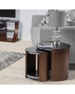 JF305 San Marino Nest of 2 Tables in Walnut by Jual at Price Crash Furniture. Matching items available. Also in Oak
