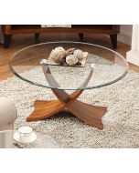 JF308 Siena Coffee Table in Walnut and Glass at Price Crash Furniture. Matching items available. Also in Oak