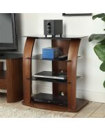 JF313 Entertainment Unit HiFi Stereo Stand Rack in Walnut by Jual at Price Crash Furniture. Matching items available