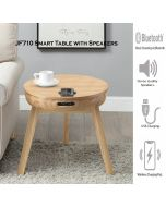 JF710 San Francisco Smart Lamp Table in Oak by Jual at Price Crash Furniture. Matching items. Also in Walnut or Walnut with Black Glass