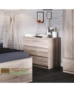Naia 3 Drawer Chest Of Drawers in Truffle Oak at Price Crash Furniture. Matching items also available.