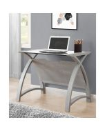 PC201 Helsinki 900 Laptop Table in Grey by Jual at Price Crash Furniture. Matching home office furniture items available.