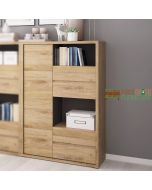 Shetland 1 Door 4 Drawer Display Cabinet