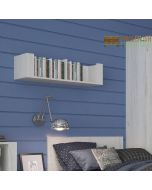 Angel 84 cm wall shelf in white oak at Price Crash Furniture. Matching items available.
