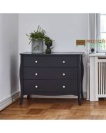 Steens Baroque 3 Drawer Chest of Drawers in Black at Price Crash Furniture. Matching items available. Also available in Grey or White
