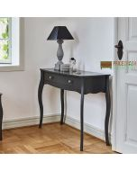 Steens Baroque 1 Drawer Hallway Console Table in Black at Price Crash Furniture. Matching items available. Also available in Grey or White