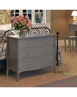 Steens Baroque 3 Drawer Chest of Drawers in Grey at Price Crash Furniture. Matching items available. Also available in White or Black