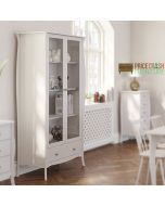 Steens Baroque Glazed Display Cabinet in White at Price Crash Furniture. Matching items available