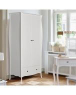 Steens Baroque 2 Door 1 Drawer Wardrobe in White at Price Crash Furniture. Matching items available. Also available in Grey or Black.